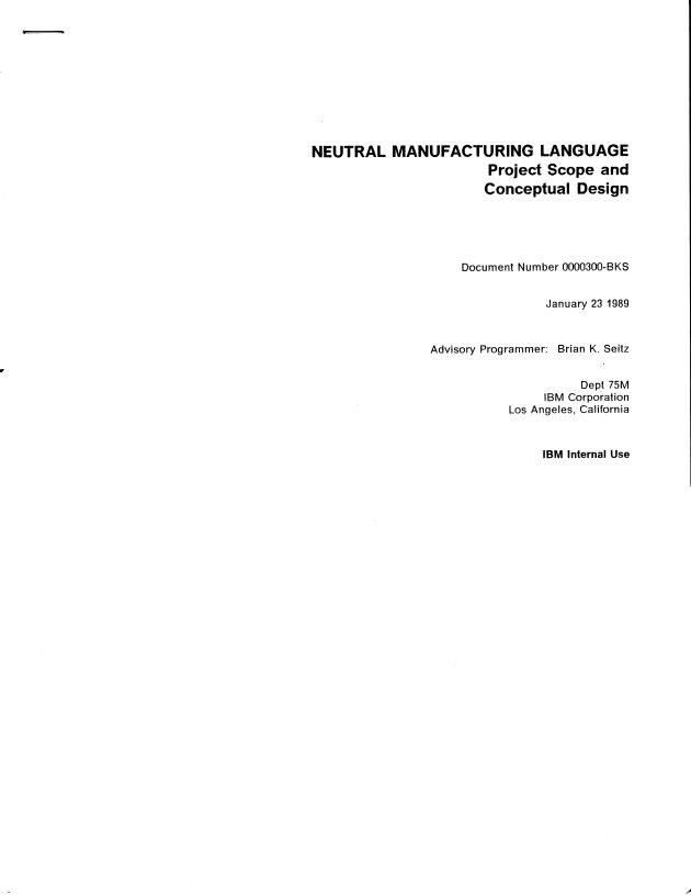 Neutral Mfg Language