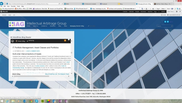 IAG-Office365 Website WP Blog-Webpart