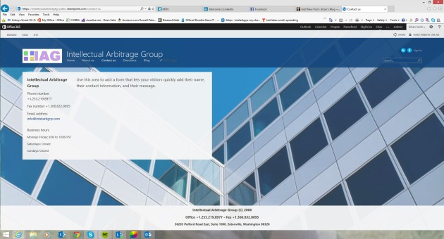 Office365 Small Business Premium IAG Contact Up Page Design